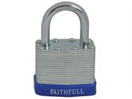 Faithfull FAIPLLAM40 - Laminated Steel Padlock 40mm 3 Keys