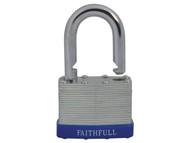 Faithfull FAIPLLAM50 - Laminated Steel Padlock 50mm 3 Keys