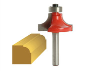 Faithfull FAIRB111 - Router Bit TCT 9.5mm Rounding Over 1/4in Shank