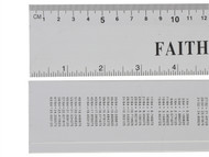 Faithfull FAIRULE300 - Aluminium Rule 300mm / 12in