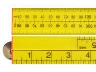 Faithfull FAIRULEFOLD - Folding Rule Yellow ABS Plastic 1 Metre / 39in