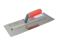 Faithfull FAISGFT14PW - Pre Worn Plasterers Finishing Trowel Soft Grip Handle 14in x 5in