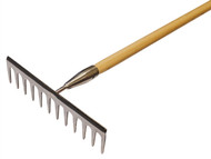 Faithfull FAISGRW - Garden Rake Stainless Steel with Wooden Handled