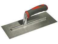 Faithfull FAISGTP11SS - Plasterers Trowel Stainless Steel Soft Grip Handle 11in x 4.3/4in