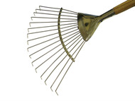 Faithfull FAISLRW - Stainless Steel Lawn Rake 1.4M Ash Handle
