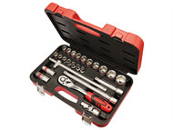 Faithfull FAISOC1224M - Socket Set of 24 Metric 1/2in Square Drive