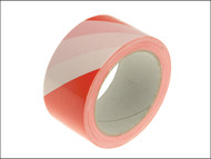 Faithfull FAITAPEHAZRW - Hazard Warning Safety Tape 50mm x 33m Red & White
