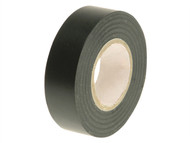 Faithfull FAITAPEPVCBK - PVC Electrical Tape Black 19mm x 20m