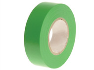 Faithfull FAITAPEPVCG - PVC Electrical Tape Green 19mm x 20m
