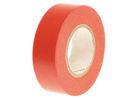 Faithfull FAITAPEPVCR - PVC Electrical Tape Red 19mm x 20m