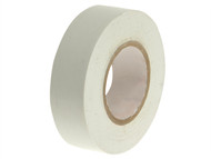 Faithfull FAITAPEPVCW - PVC Electrical Tape White 19mm x 20m
