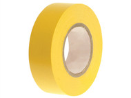 Faithfull FAITAPEPVCY - PVC Electrical Tape Yellow 19mm x 20m