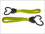 Faithfull FAITDBUNG36 - Flat Bungee Cord 91cm (36in) Yellow 2 Piece