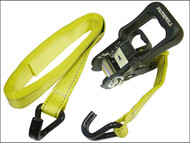 Faithfull FAITDRAT51JH - Ratchet Tie-Downs J Hook 5m x 32mm Breaking Strain 2000kg 2 Piece