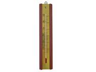 Faithfull FAITHMAHOG - Thermometer Wall Mahogany Brass 200mm