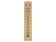 Faithfull FAITHWOODLG - Thermometer Wall Wood 400mm
