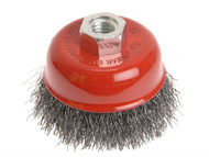 Faithfull FAIWBC80 - Wire Cup Brush 80mm x M14 x 2 0.30mm