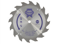 Faithfull FAIZ16516C - Trim Saw Blade 165 x 10mm x 16T Fast Rip