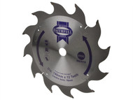 Faithfull FAIZ19012 - Circular Saw Blade 190 x 16mm x 12T Fast Rip