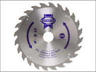 Faithfull FAIZ20024 - Circular Saw Blade 200 x 16/25/30mm x 24T Fast Rip