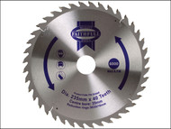 Faithfull FAIZ23540 - Circular Saw Blade TCT 235 x 16/20/30/35mm x 40T Fine Cross Cut