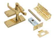 Forge FGEDPCKVSCBR - Victorian Scroll Door Pack Brass Finish