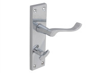 Forge FGEHBATVSCCH - Backplate Handle Bathroom - Scroll Chrome Finish 150mm