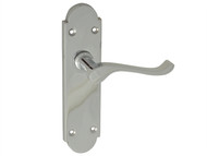 Forge FGEHLATGABCH - Backplate Handle Latch - Gable Chrome Finish