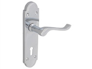 Forge FGEHLOCGABCH - Backplate Handle Lock - Gable Chrome Finish