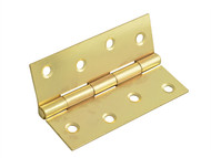 Forge FGEHNGBTBP10 - Butt Hinge Brass Finish 100mm (4in) Pack of 2