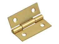Forge FGEHNGBTBP40 - Butt Hinge Brass Finish 40mm (1.5in) Pack of 2