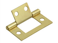 Forge FGEHNGFLBP40 - Flush Hinge Brass Finish 40mm (1.5in) Pack of 2