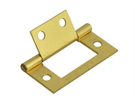 Forge FGEHNGFLBP50 - Flush Hinge Brass Finish 50mm (2in) Pack of 2
