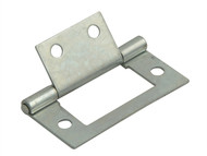 Forge FGEHNGFLZP40 - Flush Hinge Zinc Plated 40mm (1.5in) Pack of 2