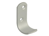 Forge FGEHOOKCOAL - Coat Hook - Aluminium 47mm Pack of 2