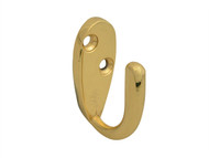 Forge FGEHOOKRBBR - Robe Hook - Brass Finish 40mm Pack of 2