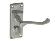 Forge FGEHPRIVSCCH - Backplate Handle Privacy - Scroll Chrome Finish 102mm
