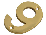 Forge FGENUM9BR75 - Numeral No.9 - Brass Finish 75mm (3in)