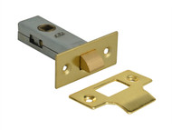 Forge FGETUBLBR3 - Tubular Mortice Latch Brass Finish 76mm (3in)