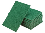 Flexipads World Class FLE34000 - Hand Pads Green General Purpose 150 x 223mm (10)