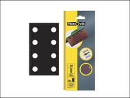Flexovit FLV26335 - 1/3 Sanding Sheets 93 x 230mm Perforated Medium 80g (10)