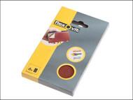 Flexovit FLV26348 - Hook & Loop Sanding Block Refill Kit Medium 80g (6)