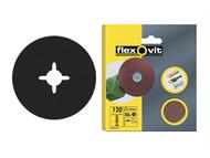 Flexovit FLV26377 - Drill Mountable Discs 125mm Coarse 50g (Pack of 10)