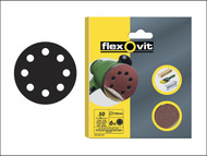 Flexovit FLV26386 - Hook & Loop Sanding Discs 115mm Fine 120g (Pack of 6)