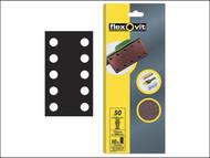 Flexovit FLV26500 - 1/2 Sanding Sheets 115 x 280mm Perforated Fine 120g (10)