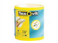 Flexovit FLV69915 - High Performance Sanding Roll 115mm x 5m Coarse 60g