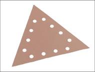 Flex Power Tools FLX348570 - Sanding Paper Hook & Loop Triangle To Suit WST-700VP 100 Grit Pack 25