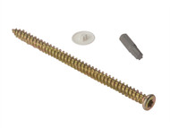 Forgefix FORCFS122 - Concrete Frame Screw Torx High-Low Thread ZYP 7.5 x 122mm Box 100
