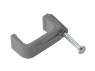 Forgefix FORFCC6G - Cable Clip Flat Grey 6.00mm Box 100