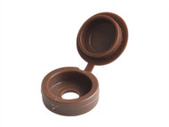 Forgefix FORHCC1B - Hinged Cover Cap Dark Brown No.6-8 Blister 20